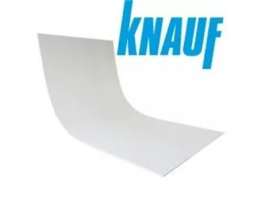 Гипсокартон арочный (6.5 мм) стандартный Knauf 120 x 260 см