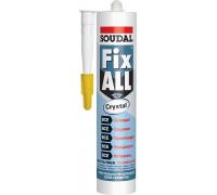 Soudal Fix All Crystal. Прозрачный клей-герметик. 290 мл. Бельгия.