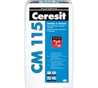 Ceresit CM 115. Светлый клей для мрамора и мозайки. 25кг, РБ.