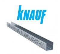 Профиль Knauf для гипсокартона UD: 27x28. Длина 3м. Толщина – 0,6 мм! РФ.