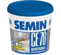 Шпатлевка финишная SEMIN СЕ-78 (синяя крышка). 25 кг. РФ.