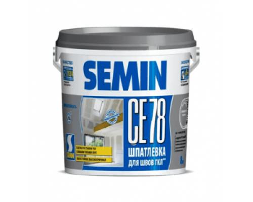 Шпатлевка финишная SEMIN СЕ-78 (серая крышка). 8 кг. РФ.