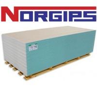 Гипсокартон NORGIPS влагостойкий 12,5х1200х2600 мм. Польша.