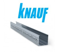 Профиль Knauf для гипсокартона UW: 50x40. Длина 3м. Толщина – 0,6 мм! РФ.