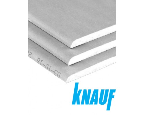 Гипсокартон KNAUF стеновой 12,5х1200х2500 мм.