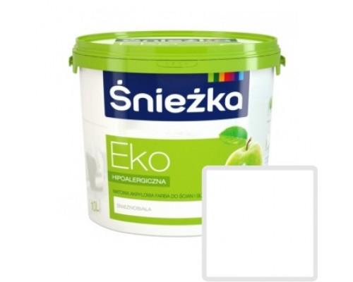 Краска акриловая Sniezka Eko белая 10 л