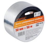 Лента алюминиевая клейкая STARTUL PROFI 50мм х 50м. Для фольги и т.д. Китай.