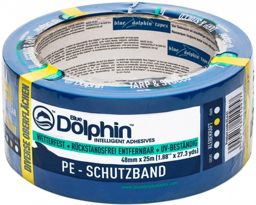Лента малярная ПВХ голубая Blue Dolphin 50м х 48мм. Польша.