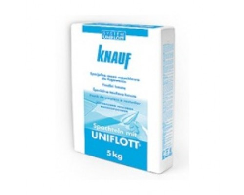 Шпатлевка гипсовая для заделки стыков ГКЛ Knauf Uniflott 5 кг