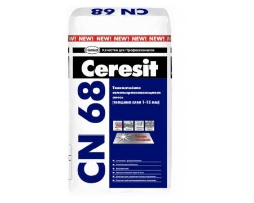 Самонивелирующаяся смесь для стяжки пола Ceresit CN68 25 кг