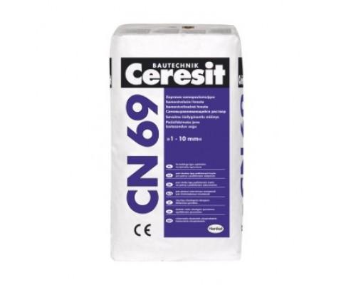Самонивелирующаяся смесь для стяжки пола Ceresit CN69 25 кг