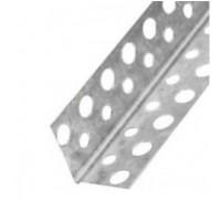 Уголок перфорированный алюминиевый, 2.5 м