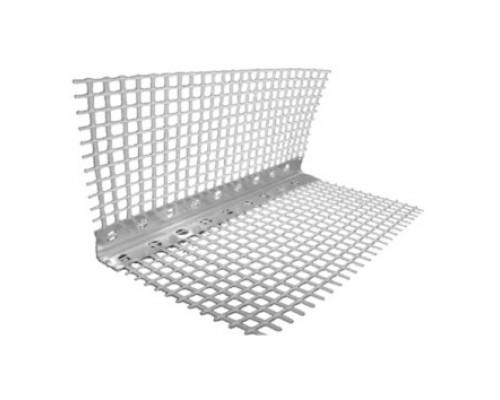 Уголок перфорированный алюминиевый со стеклотканевой сеткой, 2.5 м