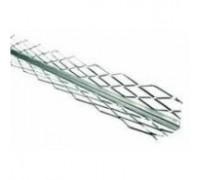 Уголок для мокрой штукатурки с металлической сеткой, 2.5 м